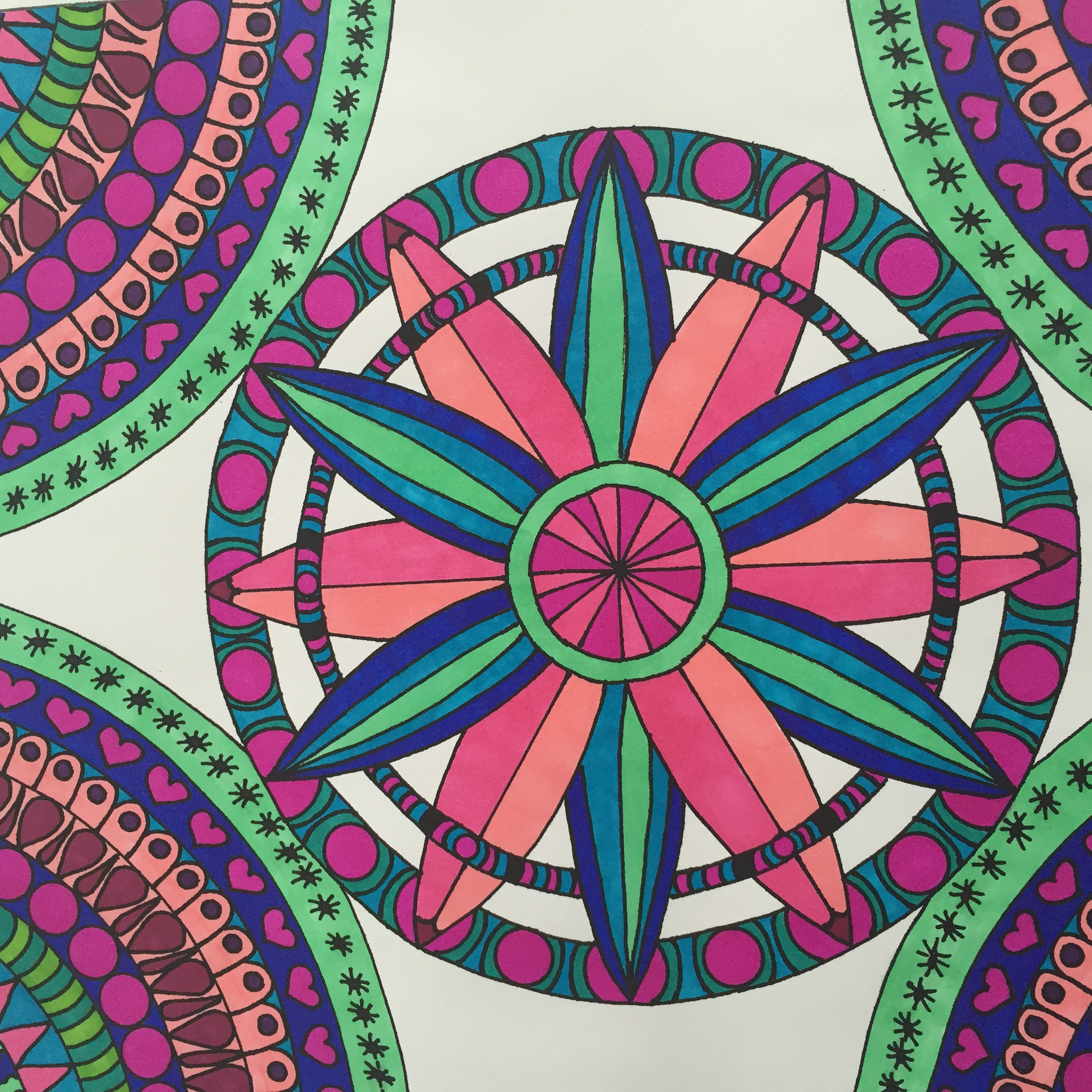 Sharpie Markers, Gel Pens, Colored Pencils for Adult Coloring Books
