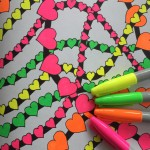 Neon Sharpie Markers for Your Adult Coloring Book Pages!