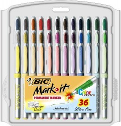 BIC-Mark-It-Permanent-Marker-Ultra-Fine-Point-Assorted-Colors-36-Count-0
