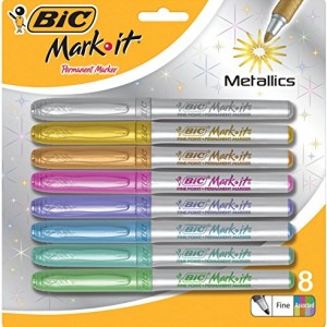 Bic-1484289-Metallic-Permanent-Marker-Fine-Tip-Assorted-Color-0