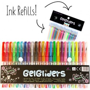 Colored-Gel-Pens-With-24-Gel-Refills-Amazing-Rainbow-Gel-Ink-Pen-Set-for-Adults-and-Kids-Includes-Black-White-Gold-and-Silver-Glitter-Neon-and-Pastel-Styles-24-Pack-With-Handy-Artist-Case-0