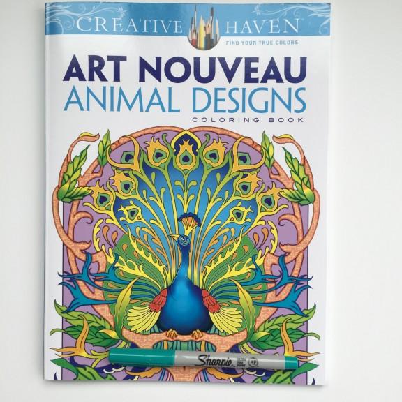Art Nouveau Animal Designs Coloring Book Review 2 Old 2