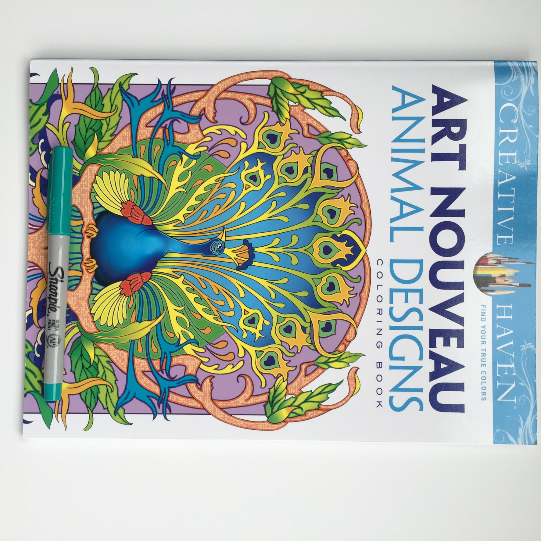 Coloring book color of art - Art Nouveau Animal Designs Coloring Book Published By Creative Haven This Book Is Composed Of Images Of Various Animals Peacocks Monkeys Chickens