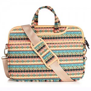 JBonest-156-Inch-Bohemian-Laptop-Bag-Briefcase-Canvas-Fabric-Laptop-Notebook-Computer-Macbook-Macbook-Air-Macbook-Pro-Case-Messenger-Shoulder-Handbag-Sleeve-0