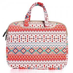 JBonest-156-Inch-Retro-Stripes-Laptop-Bag-Briefcase-Canvas-Fabric-Laptop-Notebook-Computer-Macbook-Macbook-Air-Macbook-Pro-Handbag-Case-Sleeve-0
