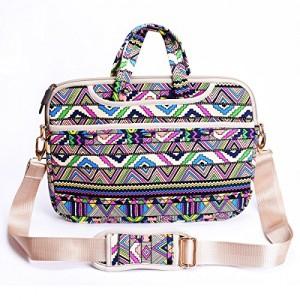 JBonest-156-Inch-Retro-Stripes-Laptop-Bag-Briefcase-Canvas-Fabric-Laptop-Notebook-Computer-Macbook-Macbook-Air-Macbook-Pro-Messenger-Shoulder-Handbag-Case-Sleeve-0