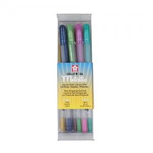Sakura-57369-16-Piece-Gelly-Roll-Metallic-Assorted-Colors-Cube-Collection-Gel-Pen-Set-0