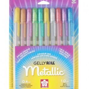 Sakura-57370-10-Piece-Gelly-Roll-Blister-Card-Assorted-Colors-Metallic-Gel-Ink-Pen-Set-0