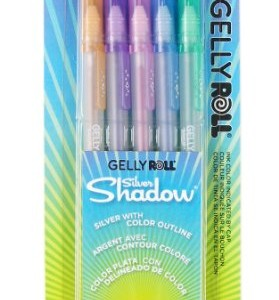 Sakura-58530-5-Piece-Gelly-Roll-Assorted-Colors-Silver-Shadow-Pen-Set-0