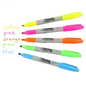 Sharpie-Neon-Permanent-Markers-Fine-Point-Assorted-Colors-Pack-of-12-0