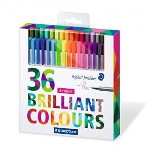 Staedtler-Color-Pen-Set-Set-of-36-Assorted-Colors-Triplus-Fineliner-Pens-0