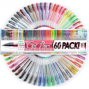 Top-Quality-Gel-Pens-Set-of-60-Individual-Colors-with-Case-0