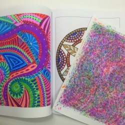 Use bleed through sheet adult coloring book coloring tips