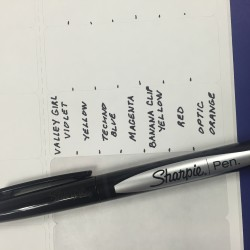 Sharpie Marker Name Labels