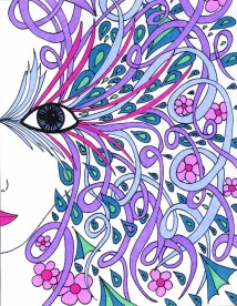 Adult coloring book sample page
