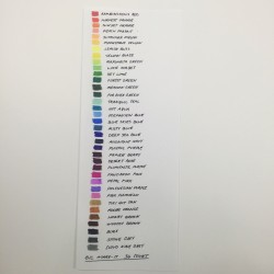 Bic marker color chart