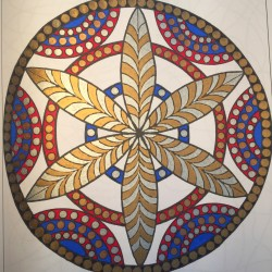 combine metallic and regular markers adult coloring book coloring tips