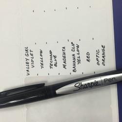 Sharpie Marker Name Labels